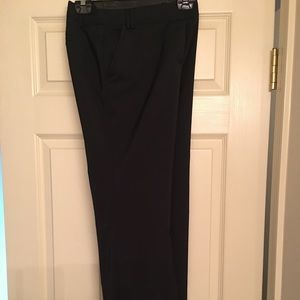 Black and white trouser pants